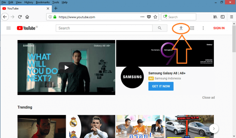 cara upload video di youtube lewat laptop