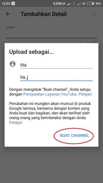 Cara Upload Video Ke Youtube Lewat Galeri HP
