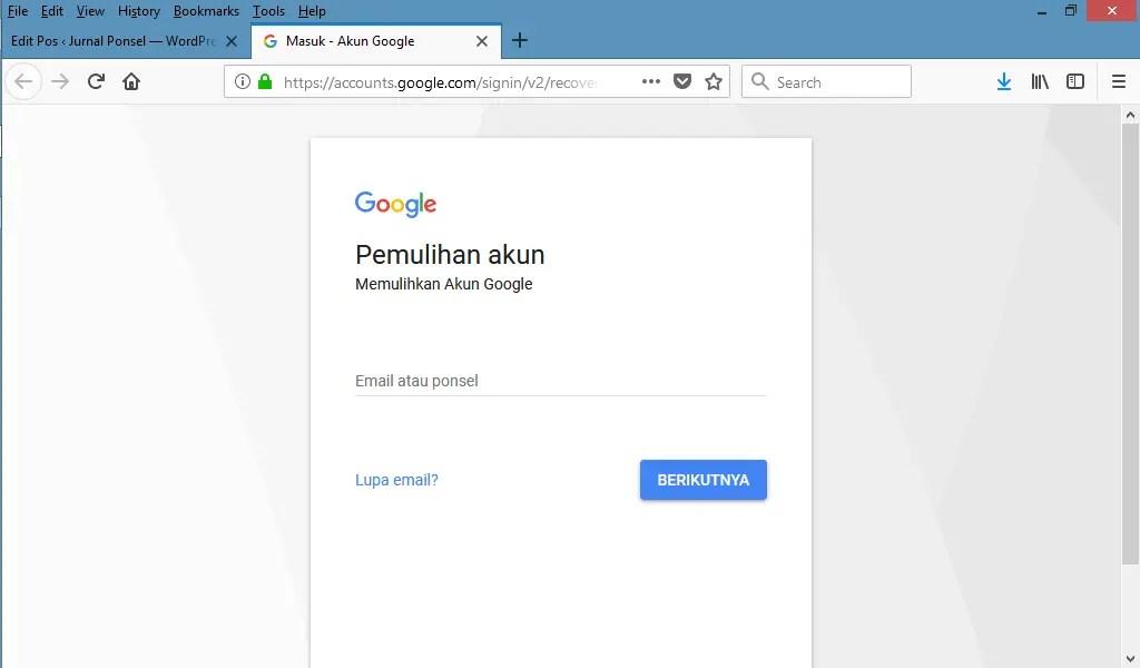 Cara Reset Kata Sandi Gmail Dengan Menjawab Pertanyaan