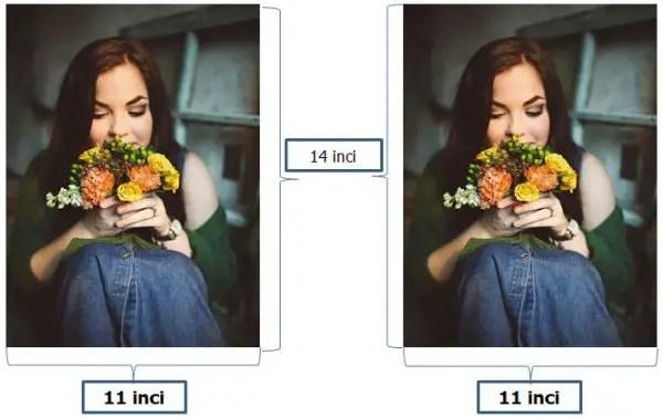 contoh ukuran foto 11R dalam satuan inci