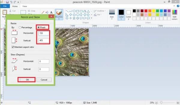 Cara Mengecilkan Ukuran Foto Dengan Paint5