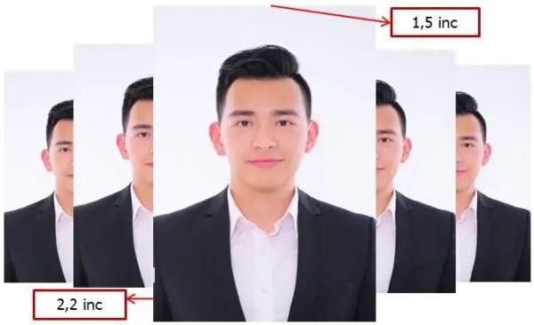 contoh ukuran foto 4x6 dalam satuan inci