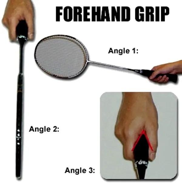 cara memegang raket badminton
