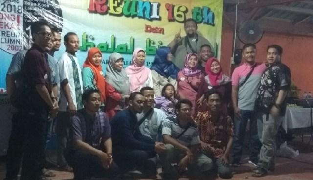 Alumni SMPN 14 Angkatan Tahun 2002 Adakan Reuni dan Halal bi Halal