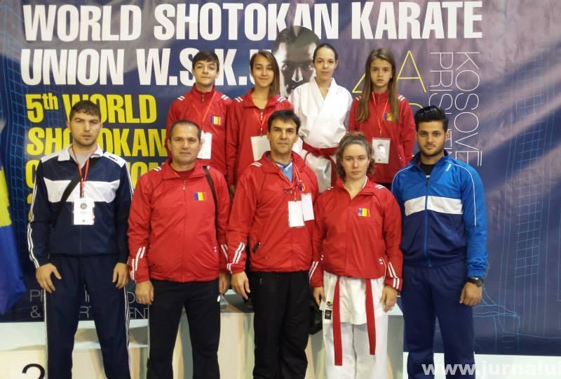 13 Medalii obtinute la Campionatul Mondial de Karate Shotokan