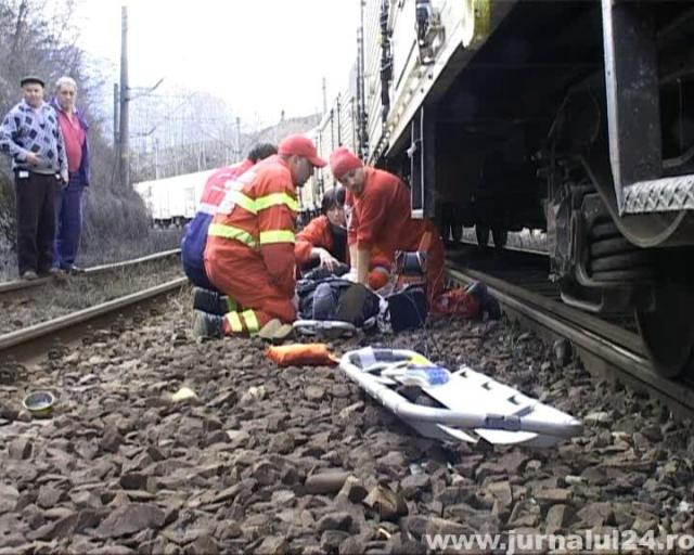 lovit de tren statia corbu