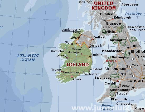 harta irlanda