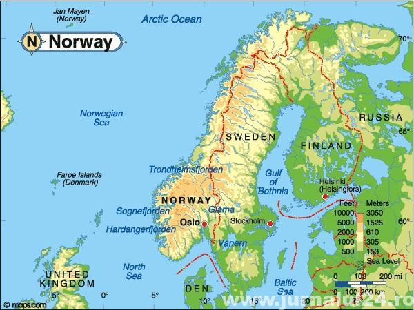 harta norvegia