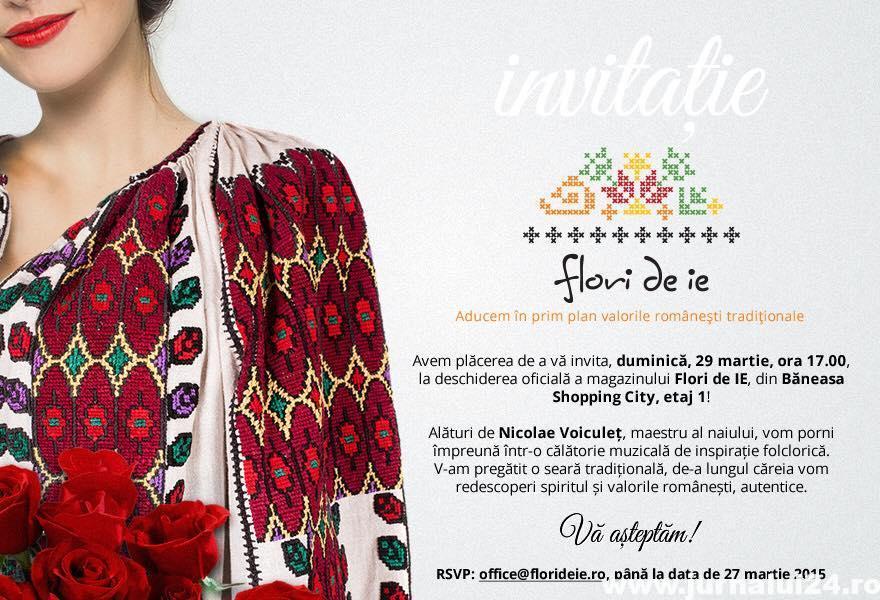 Invitatie lansare magazin Flori de Ie