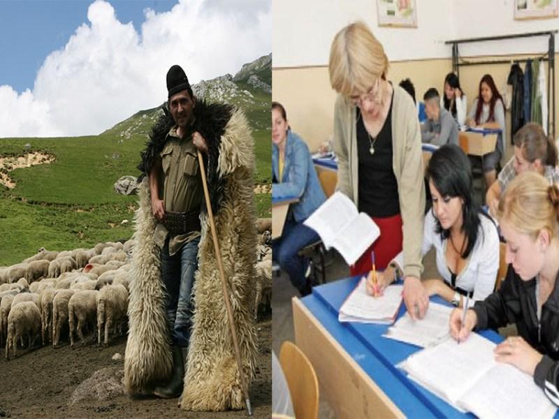 Ciobanii din România cîștigă, precum profesorii