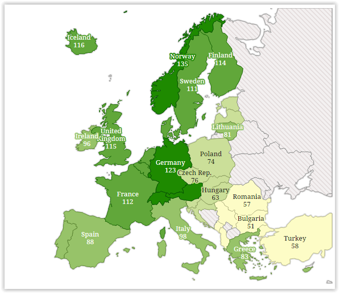 harta consum pe cap de locuitor europa