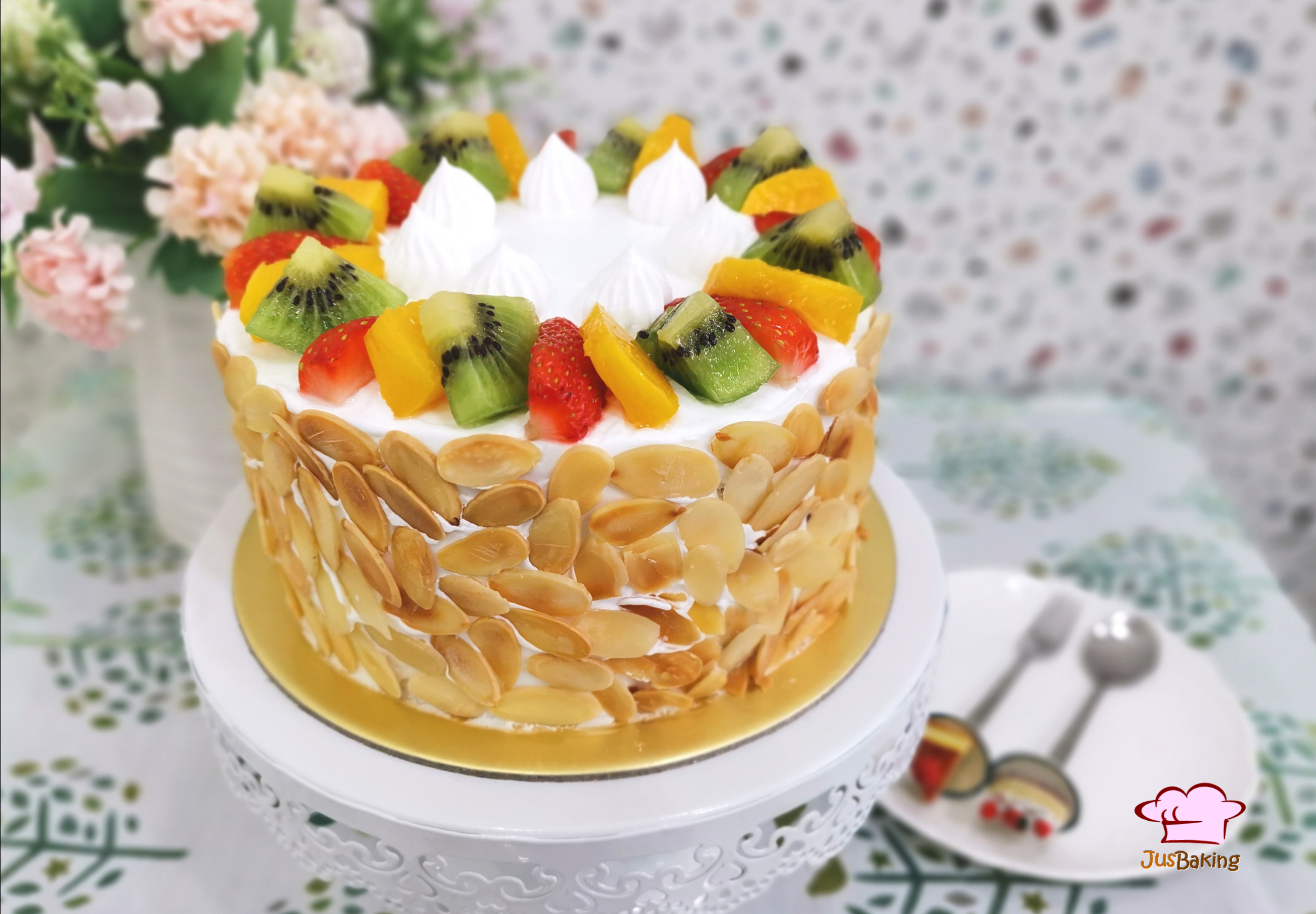 Awesome Birthday Fruit Cake Jusbaking Class Funny Birthday Cards Online Alyptdamsfinfo