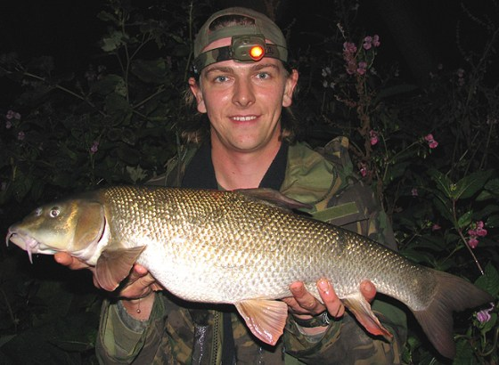 Borrowing some of Matt Liston's home made boilies, Andrew Kennedy caught this lovely Barbel