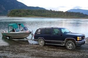 Aqua Ventures' boat, 4x4 & trailer