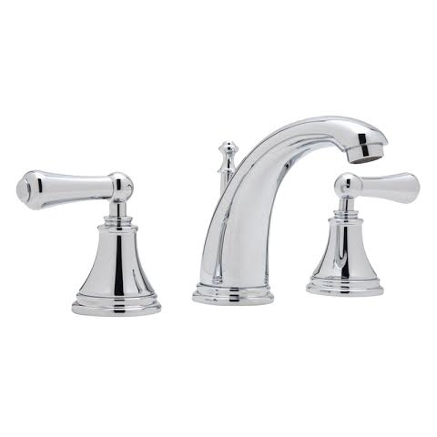 3712 perrin rowe 3 hole deck mounted high spout basin mixer tap with lever handles