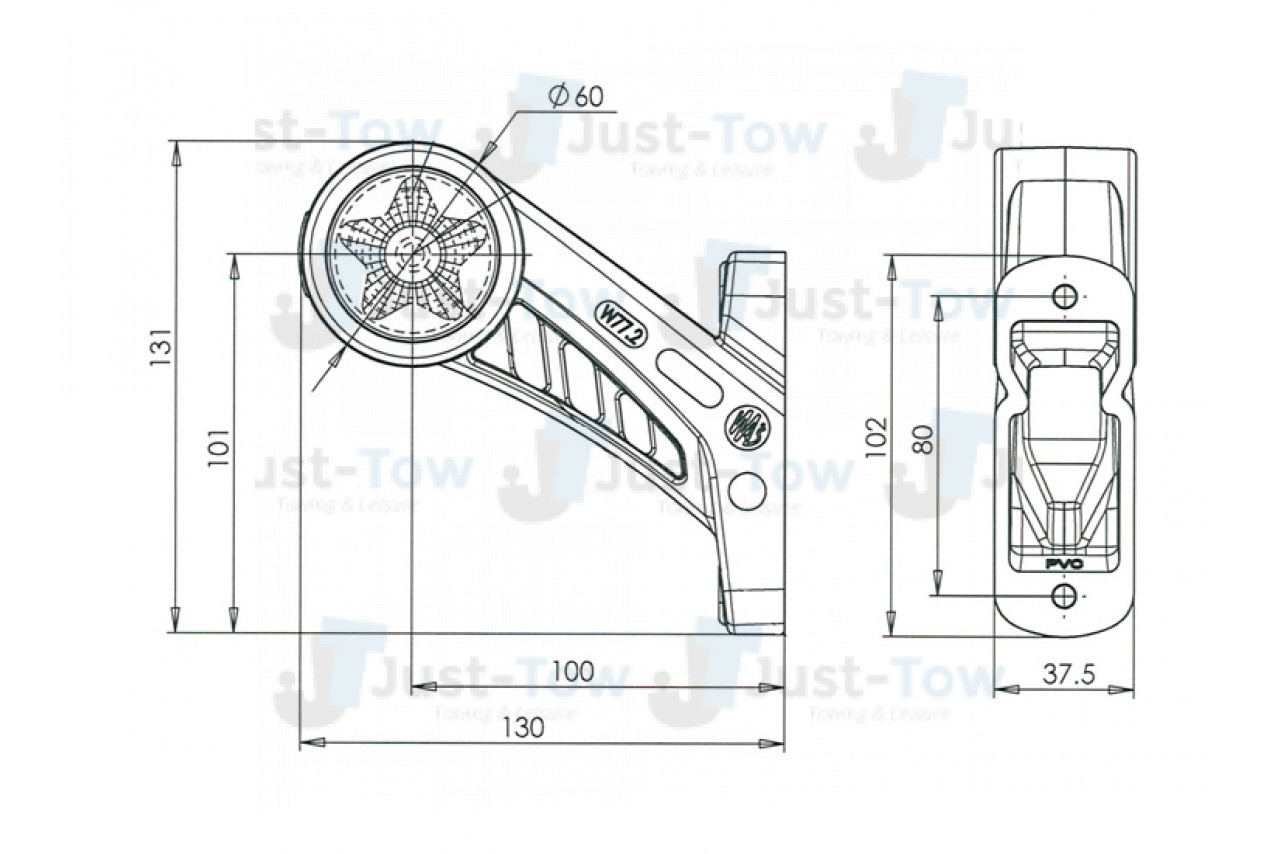 10 30v L H L E D Tail Front Side 45 Short Marker
