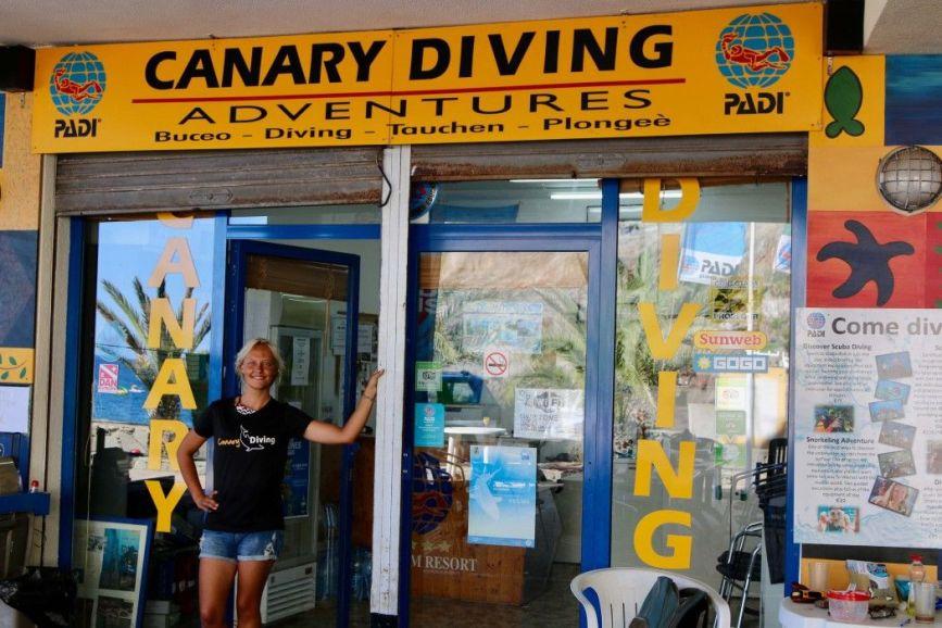 Die Basis von Canary Diving Adventures in Taurito. Foto: Sascha Tegtmeyer