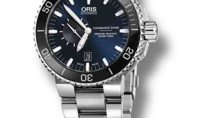 Elegante neue Taucheruhr: Die Oris Royal Navy Clearance Diver Limited Edition ist ein perfekter Zeitmesser, hat jedoch einen kleinen Haken: Er ist nur für Minentaucher der Royal Navy erhältlich. Foto: Oris