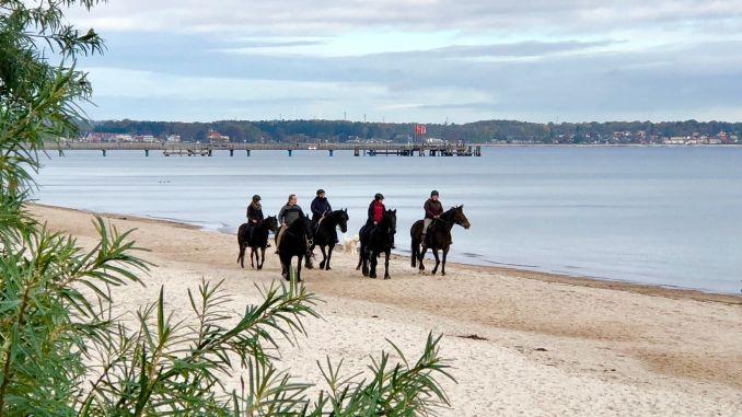 Timmendorfer Strand: Reiten am Strand ist von Oktober bis Ende März in der Lübecker Bucht erlaubt. Foto: Sascha Tegtmeyer
