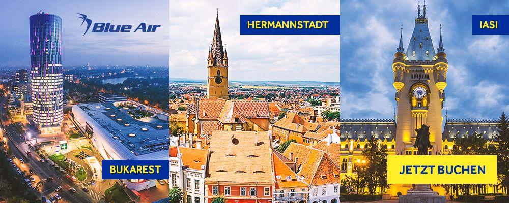 Mit Blue Air zu Schnäppchenpreisen nach Rumänien fliegen – jetzt klicken und entdecken!