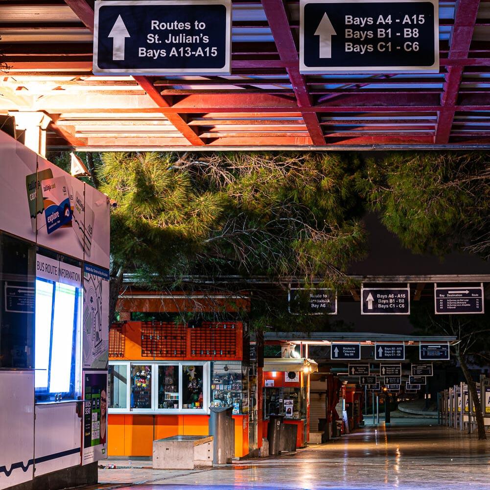 valletta empty streets during coronavirus outbreak
