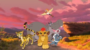 """THE LION GUARD - The epic storytelling of Disney's """"The Lion King"""" continues with """"The Lion Guard: Return of the Roar,"""" a primetime television movie event starring Rob Lowe, Gabrielle Union and James Earl Jones, reprising his iconic role as Mufasa.  Premiering this November on Disney Channel, the movie follows Kion, the second-born cub of Simba and Nala, as he assumes the role of leader of the Lion Guard, a team of animals tasked with preserving the Pride Lands. """"The Lion Guard"""" television series will premiere in early 2016 on Disney Channels and Disney Junior channels around the globe. (Disney Junior) FULI, KION, ONO , BESHTE, BUNGA"""