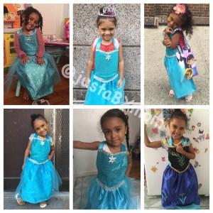 6 Frozen faces - Anna and Elsa