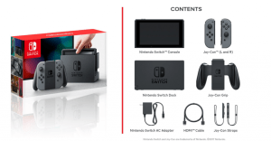 nintendo switch contents