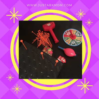 zing, zing toys, blast box, pop balloon, balloons, hammer, nails, spinner