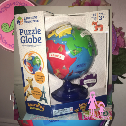 learning resources, globe, puzzle, disney, rapunzel, www.justabxmom.com