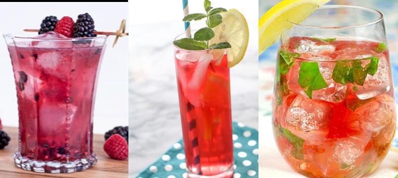 cascade ice, summer drinks, watermelon, lemonade, sparkling water