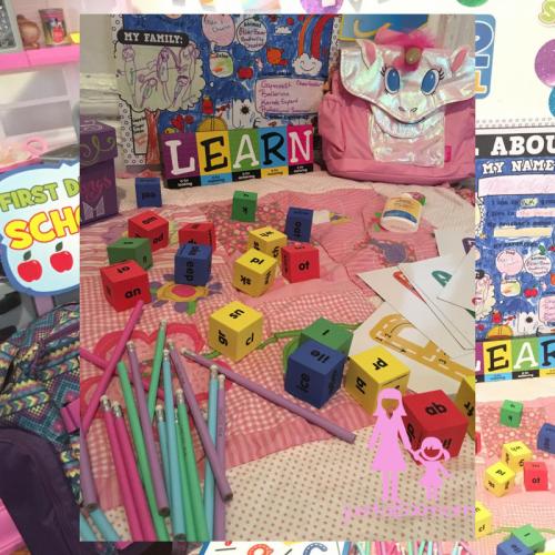 pencils, learning words, blocks, bixbee, oriental trading