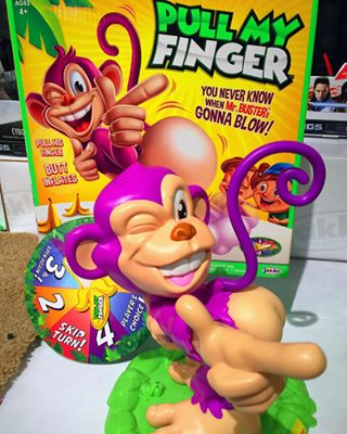 pull my finger, jakks pacific, monkey game, fart game