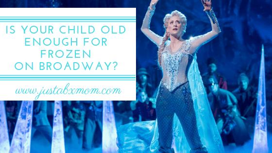 frozen on broadway, should I take my kids to frozen, petite seat, frozen on broadway