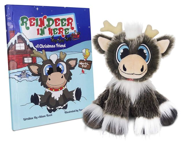 reindeer in here, elf on the shelf alternative, christmas tradition