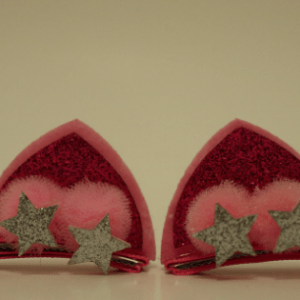 hair clips for girls, cat ear hair clips