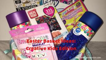 easter basket ideas, easter basket stuffers, no candy easter basket