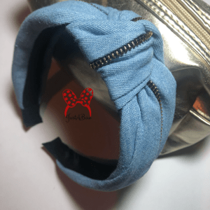 light blue denim zipper