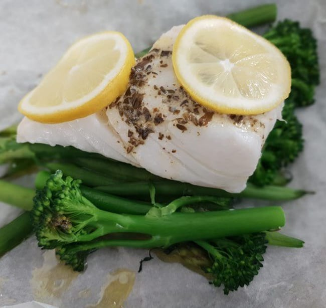 Basil, Garlic & Herb Butter Cod Parcels