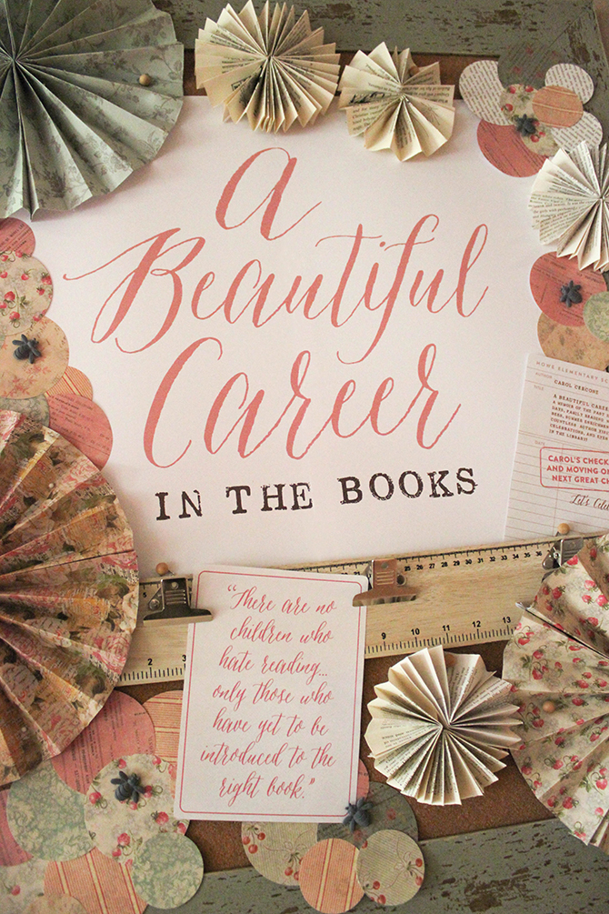 A Beautiful Career in the Books, 25 years, Vintage Book Party, Retirement Party, Vintage School, Vintage Book, Book Cake, Paper craft, Paper flowers, paper pinwheels, paper art, paper collage, paper pinwheels, paper rosettes, scrapbook paper, paper as art