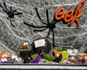"""Witches, Boos, and Spiders too!"" Kids Halloween Party with Oriental Trading"