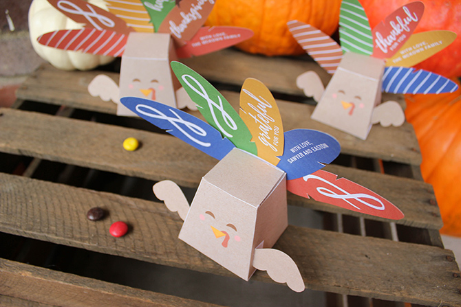turkey favor box free printable, treat box, free printable, turkey, thanksgiving
