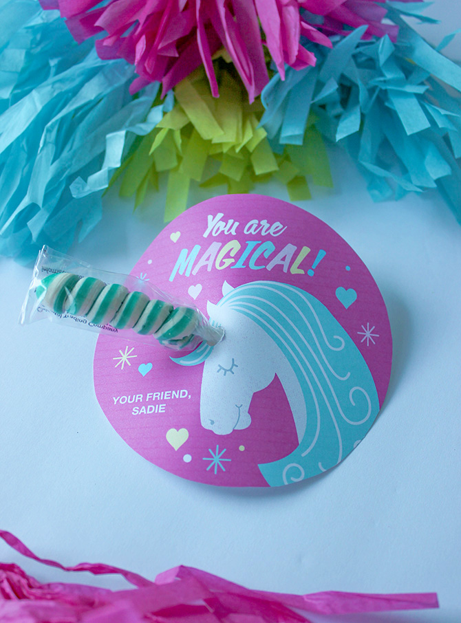 image regarding Free Printable Unicorn Valentines referred to as Twisty Lollipop Unicorn valentine, unicorn valentine