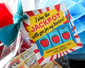 Lottery Ticket Teacher Appreciation Gift Idea and Printable