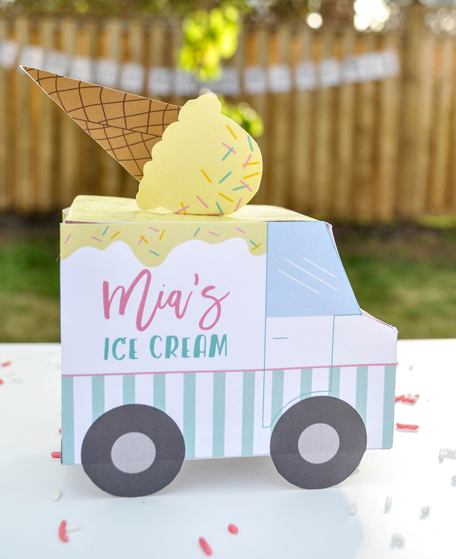 Ice Cream Party, summer party, ice cream, first day of summer celebration, Just Add Confetti, Enchanted Parties Montreal, collaboration, Just Add Confetti printables, ice cream party printables, free printables, graphic design, summer, ice cream shop, ice cream shop party
