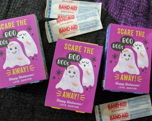 Scare The Boo Boos Away: Band-Aid Halloween Gift Idea