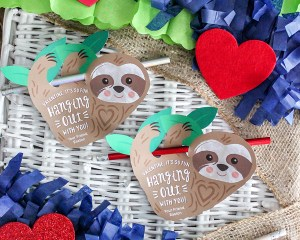 Sloth Kids Valentine
