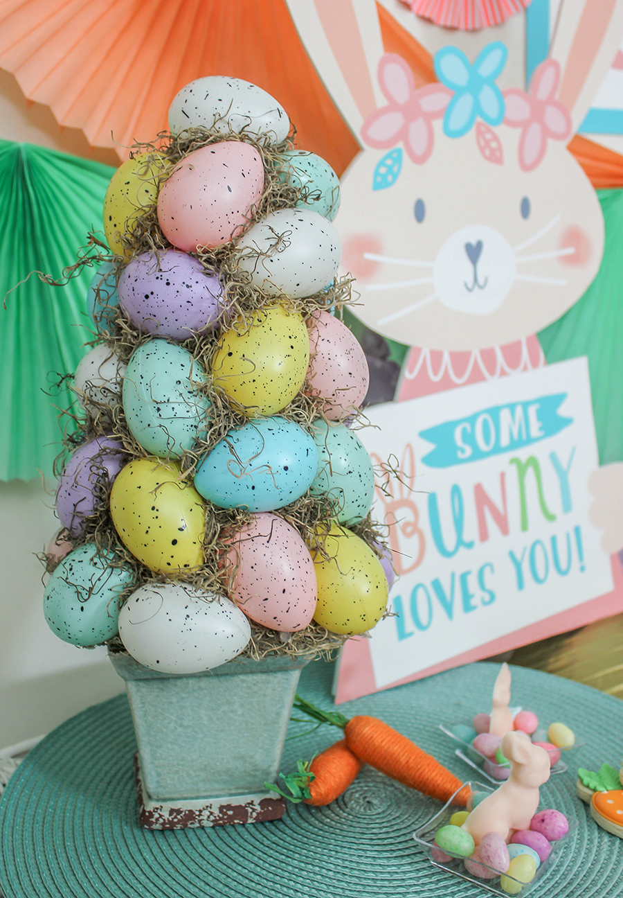 egg topiary craft, diy craft, Easter craft, Easter DIY, Just Add Confetti, Egg Topiary, step-by-step tutorial, egg, Easter eggs, Easter