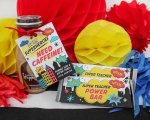 Superhero Teacher Appreciation Gift Idea
