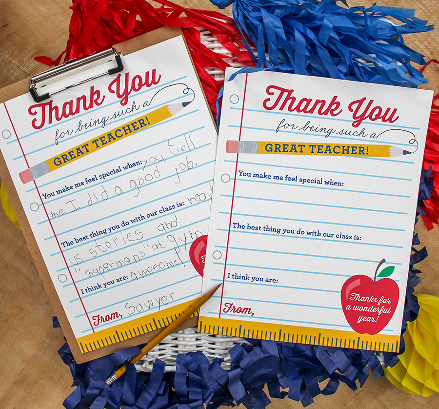 teacher appreciation thank you note free printable, free printable, thank you note, teacher thank you note, teacher appreciation, thank you note teacher appreciation free printable, Just Add Confetti, teacher, thank you,